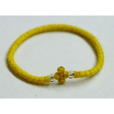 Κομποσκοίνι με χάντρα-Κίτρινο
