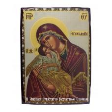Εικόνα Παναγίας Γλυκοφιλούσας με Χριστό - Χρυσοκονδυλιά